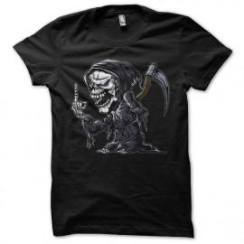 Shirt skeleton fuck you noir pour homme et femme