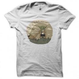 Shirt yoda helvetique blanc pour homme et femme