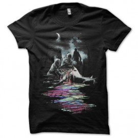 Shirt art zombie noir pour homme et femme