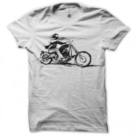 Shirt bikers ride blanc pour homme et femme