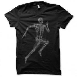 Shirt corps humain radio noir pour homme et femme