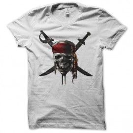 Shirt pirates of the caribbean blanc pour homme et femme