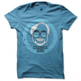 Shirt miyazaki club bleu ciel pour homme et femme
