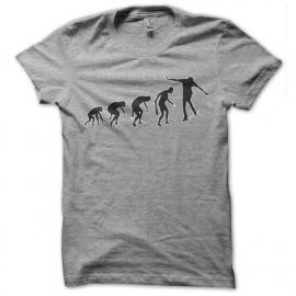 Shirt skateur evolution gris pour homme et femme