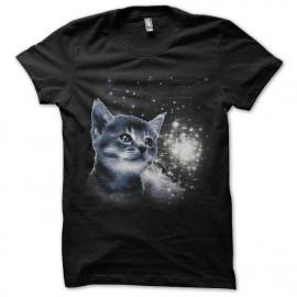Shirt Space cat noir pour homme et femme