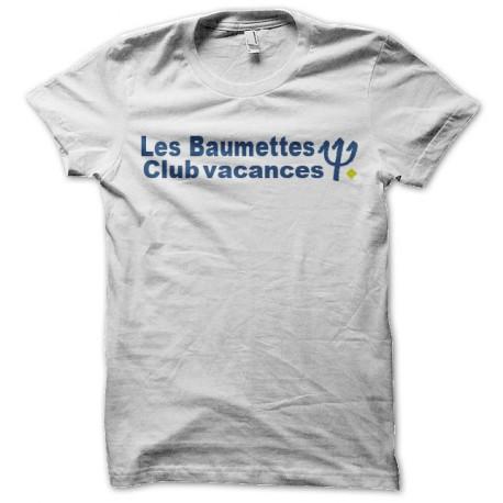 Shirt les baumettes prison parodie club med blanc pour homme et femme