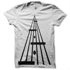 Shirt guitar rock and roll blanc pour homme et femme