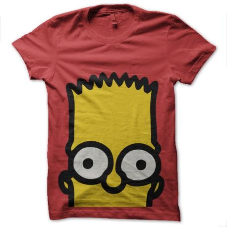 Shirt Bart Simpson rouge pour homme et femme