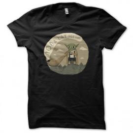 Shirt yoda helvetique noir pour homme et femme
