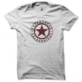 Shirt kalashnikov blanc pour homme et femme