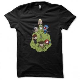 Shirt baby avengers cartoon noir pour homme et femme