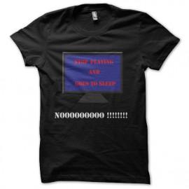 Shirt stop playing noir pour homme et femme
