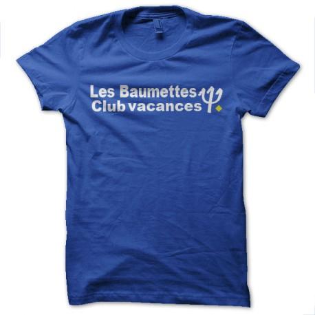 Shirt Prison les baumettes parodie club med vacances bleu pour homme et femme