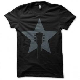 Shirt guitar rock star noir pour homme et femme