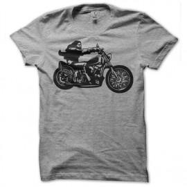 Shirt biker gris pour homme et femme