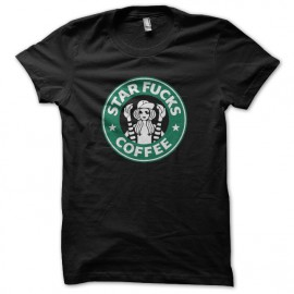 Shirt starfucks coffee parodie starbucks coffee noir pour homme et femme