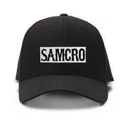 casquette SONS OF ANARCHY SAMCRO GANG brodée de couleur noire