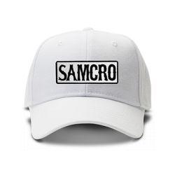 casquette SONS OF ANARCHY SAMCRO GANG brodée de couleur blanche