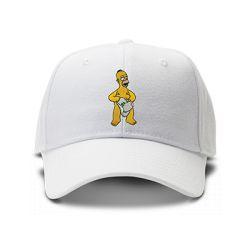 casquette HOMER SIMPSON brodée de couleur blanche