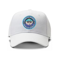 casquette cartman SOUTH PARK respect my autority brodée de couleur blanche