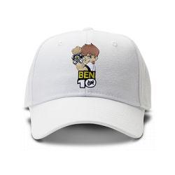 casquette BEN10 brodée de couleur blanche