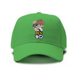 casquette BEN10 brodée de couleur verte