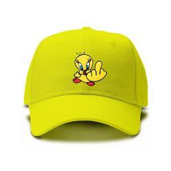 casquette TITI FUCK brodée de couleur jaune