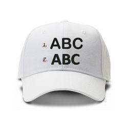 casquette ALPHABET brodée de couleur blanche