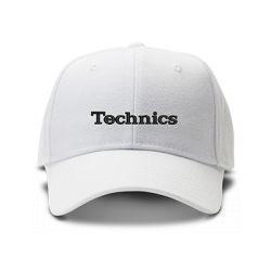 casquette TECHNICS brodée de couleur blanche
