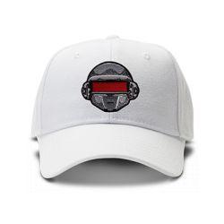 casquette DAFT PUNK ROBOT brodée de couleur blanche