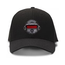 casquette DAFT PUNK ROBOT brodée de couleur noire