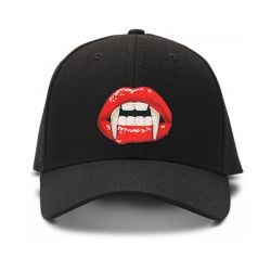 casquette VAMPIRE brodée de couleur noire