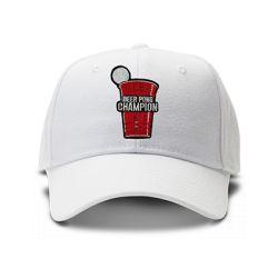 casquette BEER PONG brodée de couleur blanche