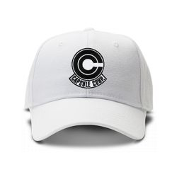 casquette CAPSULE CORP DRAGON BALL brodée de couleur blanche