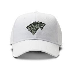 casquette GAME OF THROME CLASSIC brodée de couleur blanche