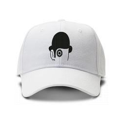 casquette ORANGE MECANIQUE FACE brodée de couleur blanche
