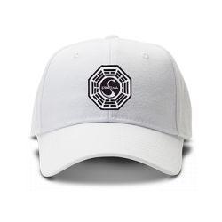 casquette DHARMA LOST brodée de couleur blanche