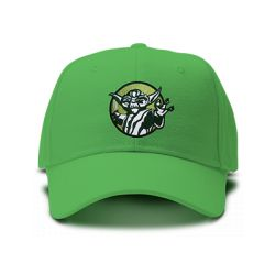 casquette master yoda brodée de couleur verte
