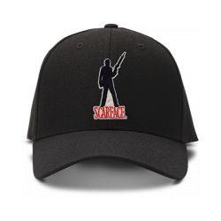 casquette SCARFACE brodée de couleur noire