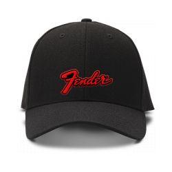 casquette FENDER brodée de couleur noire