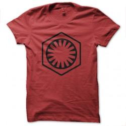 shirt nouveau logo empire star wars en rouge pour homme et femme