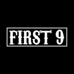 Shirt first 9 from sons of anarchy noir série pour homme et femme