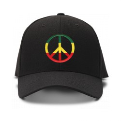 casquette PEACE AND LOVE noire