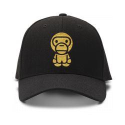 casquette monkey abbe brod'e de couleur noire