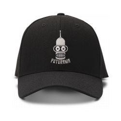 casquette futurama brod'e de couleur noire