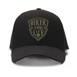 casquette biker for life brodee de couleur noire