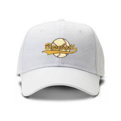 casquette baseball brodee de couleur blanche