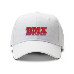casquette BMX brodee de couleur blanche