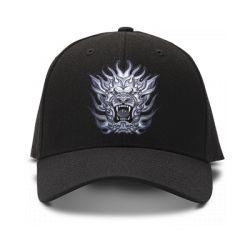 casquette lion de couleur noire