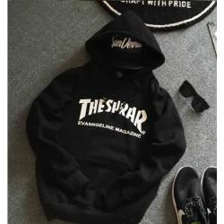veste à capuche Thrasher noire